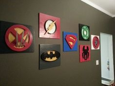 my son loves superheroes decorating the playroom, design d cor, entertainment rec rooms