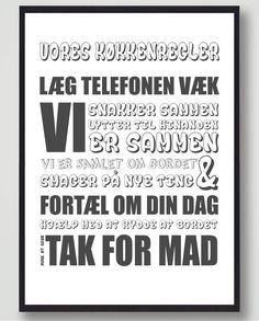 Regler i huset Regler skal der til nogen gange. Med denne plakat har du og din f. Used Pallets, House Rules, One Liner, Funny Pictures, Inspirational Quotes, Humor, Motivation, Sayings, Life
