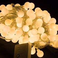 Kaleep 100LED 33ft10m Warm White LED String Lights Wedding Party Fairy Christmas Light Home Garden Decorations ** Check out the image by visiting the link.