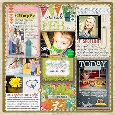 Project Life Week 8 a - Digital Scrapbooking Ideas - DesignerDigitals