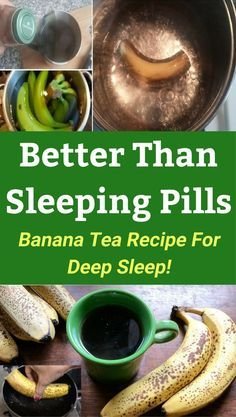 Best natural sleep aid remedy. Banana and cinnamon tea recipe. Never lose sleep! Cure insomnia