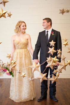 Detail to Love: Stars! See More Ideas: http://thebridaldetective.com/the-ultimate-guide-to-metallics/