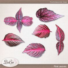Pink Leaves by #LouCee Creations.  #sugarhillco