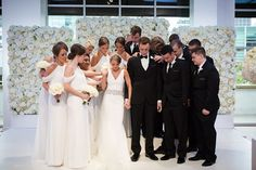 Photographer: Melissa White Tie Wedding, Wedding Tux, Perfect Wedding Dress, Luxury Wedding, Wedding Gowns, Periwinkle Bridesmaid Dresses, Gifts For Grooms Parents, Kc Events, Wedding Dress Necklines