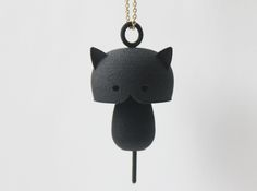 Kitty cat pendant from Shapeways. What a cool site!! (Shapeways is a 3D printing marketplace and service. Users upload design files, and Shapeways prints the objects from a variety of materials.)