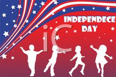 Kids Dancing - Independence Day Clipart