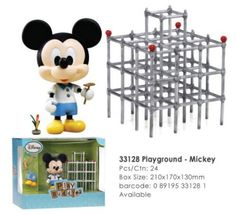 """Disney Play Buddies 3.5"""" Playground Series - Mickey [33128] by Dragon. $25.99. Play Buddies Collection comprises different Disney characters in a setting that brings customers back to their nostalgic Hong Kong childhood.  This Playground series features each character in the old-style Hong Kong playground along with toys that were played in their childhood days. Many Hong Kong natives have collective memories of photos, letters or videos to capture these precious ..."""