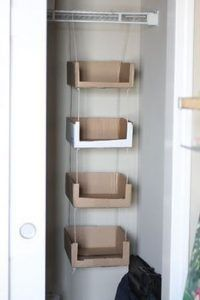 Craft Cardboard Box Diy Storage Ideas For 2019 Recycle Cardboard Box, Diy Cardboard Furniture, Cardboard Storage, Diy Storage Boxes, Cardboard Box Crafts, Craft Storage, Diy Furniture, Furniture Design, Diy With Cardboard Boxes