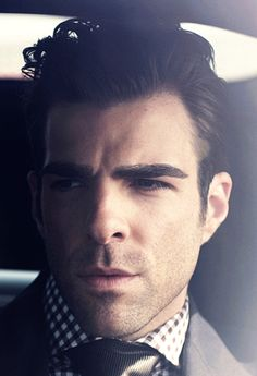 Zachary Quinto...drown me in those eyebrows please.