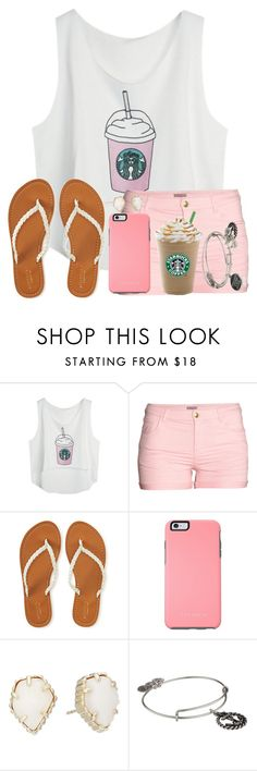 """""""What's Your Favorite Starbucks Drink??"""" by twaayy ❤ liked on Polyvore featuring H&M, Aéropostale, OtterBox, Kendra Scott and Alex and Ani"""