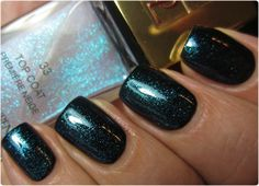 YSL #33 Première Neige Top Coat from the Northern Lights Holiday 2012 Collection - it looks like a clear top coat in the bottle until it's shaken and becomes a luminescent glitter polish.