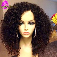 7A Full Lace Human Hair Wigs For Black Women Brazilian Virgin Human Hair Lace Front Wigs Afro Kinky Curly Glueless Full Lace Wig