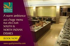 A warm ambiance and a huge menu that offers both South and North Indian dishes. #Qualityinnviha #Kumbakonam. Plz. visit http://www.qualityinnviha.com or for early response call @ +91 435 2 555 555