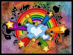 30 Impressive Color Spectrum and Rainbow Wallpapers - Hongkiat Rainbow Wallpaper, Love Wallpaper, Colorful Wallpaper, Graphic Wallpaper, Heart Wallpaper, Rainbow Flowers, Rainbow Colors, Rainbow Room, Rainbow Art