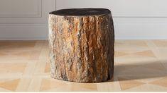 Dark Petrified Wood Side Table |