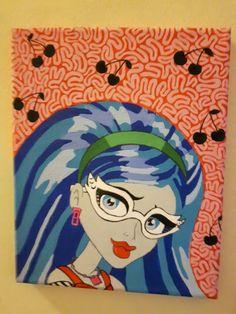 Ghoulia Yelps fan art by Sara Seibel Monster High, Kids Rugs, Fan Art, Decor, Kid Friendly Rugs, Fanart, Decorating, Dekoration, Deco