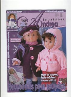 ANDREA 550 - Cecile Scelles - Picasa Albums Web Sewing Doll Clothes, Baby Doll Clothes, Sewing Dolls, Ag Dolls, Doll Clothes Patterns, Reborn Dolls, Crochet Clothes, Girl Dolls, Nancy Doll
