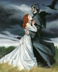 Wuthering Heights Literary work, illustrated and set in a story of revenge and hatred, of unbridled passions and desperate loves by Fernando Vicente Emily Bronte, Tragic Love Stories, Visual Metaphor, Wuthering Heights, Colour Field, Fire Heart, Classic Literature, English Countryside, Dark Art
