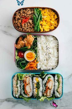 carefullybifunow Meal Prep Bento Recipes Ideas: 3 Dollar Bento Challenge • Just One Cookbook -  These 3 EASY and BUDGET-friendly MEAL PREP ideas for BENTO prove that eating HEALTHY can be DELICIO - #bento #BudgetRecipes #challenge #CleanEatingMeals #cookbook #dollar #HealthyMeals #ideas #Meal #Prep #recipes<br> Vegetarian Meal Prep, Healthy Meal Prep, Vegetarian Recipes, Healthy Eating, Healthy Recipes, Healthy Food, Healthy Drinks, Sunday Meal Prep, Meal Prep For The Week