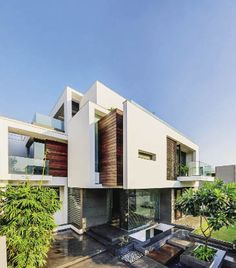 Asian Dream Home With Perfect Modern Interiors, New Delhi, India © Ranjan  Sharma This Amazing Home Called The Overhang House Is Built In Th. Part 68