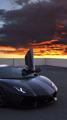 Lamborghini Aventador with Sunset By ActivFilms More – – World Bayers Luxury Sports Cars, Top Luxury Cars, Cool Sports Cars, Sport Cars, Cool Cars, Exotic Sports Cars, Dream Cars, My Dream Car, Supercars