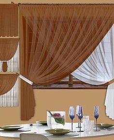 Комплект штор «Глазго» шоколадного цвета