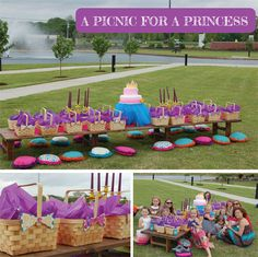 Picnic for a Princess Party - love the baskets!