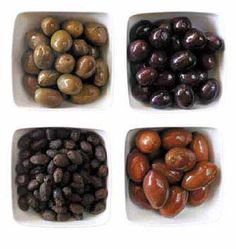 A Guide to Greek Table Olives | Greek Food - Greek Cooking - Greek Recipes by Diane Kochilas. Olives yum yum yum