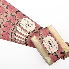 Chawoorim Hand Made Wrap Paper Tape Labels Soap Packaging Materials for Hand Made Soap Lotion Bars Soap Bars Bath Bombs Boxes Bags Illiust Rose Homemade soap Packaging Diy Soap Labels, Soap Packaging, Packaging Ideas, Packaging Supplies, Savon Soap, Soap Display, Soap Making Supplies, Homemade Soap Recipes, Soap Boxes