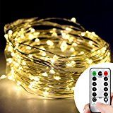 Kany 100LED 33ft Copper Wire Starry String LED Lights Battery Powered with Remote Control 8 Modes String Lights... christmas deals week
