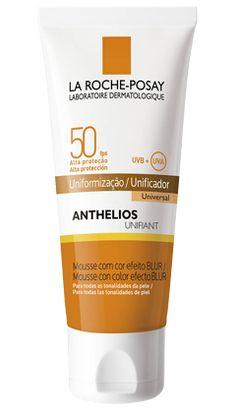 Anthelios Unifiant FPS 50 protección UVA/UVB es una crema Blur en mousse que matifica la piel y previene manchas y arrugas prematuras. Resistente al agua.