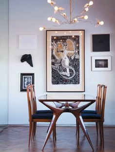 """Like the lamp, but I want the table! wishhopedreampray: """"I am, one day going to own an Ingo Maurer Lucellino lamp. Mid Century Dining, Mid Century House, Mid Century Modern Furniture, Contemporary Furniture, Modern Decor, Mid-century Modern, Ingo Maurer, Best Interior Design, Decoration"""
