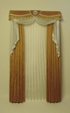 Miniature 1:12 Dollhouse curtains to order   Etsy