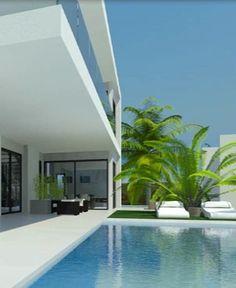 Villa Canberra in Marbella by Cik Pom Design, exterior sundeck _