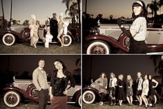 The outdoor live photobooth complete with Gatsby's car! Phoenix Bride and Groom, Eyes2See Photography, Great Gatsby #photobooth #Gatsby #1920's