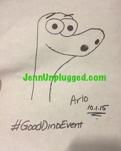 My drawing of Arlo from The Good Dinosaur - set to open Thanksgiving 2015 - #GoodDinoEvent #arlo @disneypixar by jennunplugged