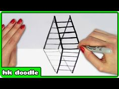 How To Draw Ladder 3D Optical Illusion   Step By Step Drawing Tutorial By…