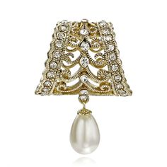 This Gold Crystal Filigree Pearl Pendant Scarf Ring features handcrafted filigree and crystal decorative hollow out bell shaped ring with pearl pendant used for clasping the silks, scarfs, curtains and the alike. Scarf Rings, Pearl Pendant, Scarfs, Filigree, Curtains, Silk, Crystals, Scarves, Blinds