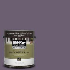 Behr - Iris Petal -  Color for back wall in bedroom