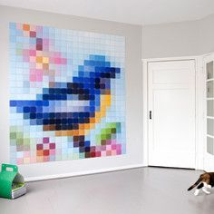 Patchwork Bird, $225, now featured on Fab.