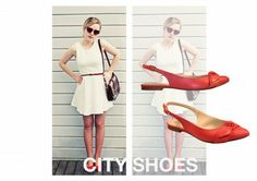 O sapato vermelho é um acessório poderoso! Nossa dica é apostar no conforto e beleza da sapatilha Nuy
