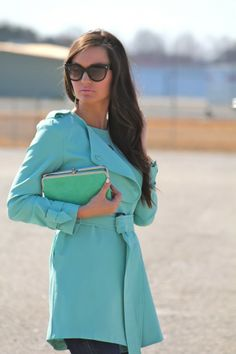 Pop of mint with our Lauren clutch!! @Megan Ward Runion #ForAllThingsLovely