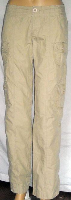 So Wear it Declare it Sz 5 Beige Khaki 100% Cotton Pants Ships Free in the USA #SO #KhakisChinos