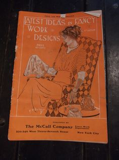 ANTIQUE-1911-1912-MCCALL CO FANCY WORK DEPARTMENT-CATALOG-EMBROIDERY DESIGNS