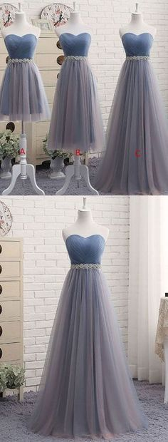 Backless Prom Dress, Blue Prom Dress,Pleat Cheap Prom Dresses,Sweetheart Prom Dress - I would love this it was halter neck. But I'm not sure if it'd suit the dress. Best Prom Dresses, Elegant Prom Dresses, Backless Prom Dresses, Tulle Prom Dress, Short Bridesmaid Dresses, Prom Dresses Blue, Cheap Prom Dresses, Homecoming Dresses, Beautiful Dresses