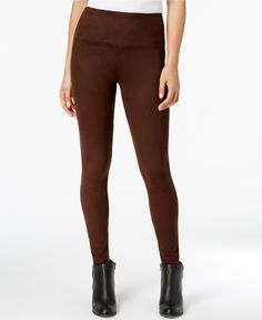 Style & Co Faux-Suede Leggings, Created for Macy's - Faux Leather Leggings - SLP - Macy's