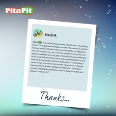 Thanks, Marji M. for visiting us at DLF Mall of India - Biggest mall in India. and encouraging us by sharing a review on Zomato. We look forward to serve you again, sooner! #LoveForPita