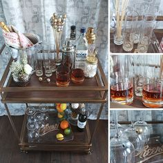 bar cart home bar - Google Search