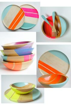 Hardwood bowls and plates from Nicole Porter