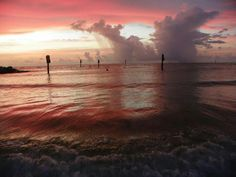 Clearwater, Florida, just after the sunset.